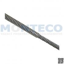 Ocelová lana pr.3x4 mm, 6x7 s nástřikem PVC