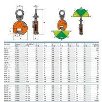 Zvedací svěrka VUW 0,75t/ 0-13 mm