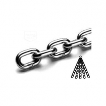Nerezový řetěz DIN 766 A -  krátký článek, pr. 5mm