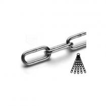 Nerezový řetěz dlouhý článek DIN 763/5865C, A4, pr. 8 mm