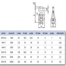 Fixační hák se spojkou XKW 5-6