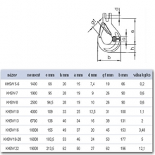 Hák se spojovacím čepem KHSW 5-6
