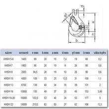 Hák se spojovacím čepem KHSW 19-20