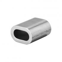 Lisovací objímka oválná 8 mm, hliník