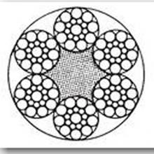 Ocelové lano pr.12 mm 6x19 Seal+FC, Zn