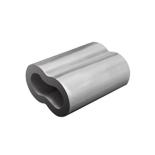 Lisovací objímka tvar 8 (US) 4 mm; hliník