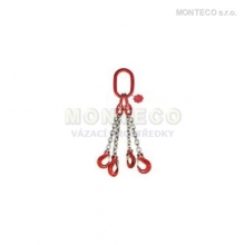 Vázací řetěz čtyřhák pr.10mm,L=4m
