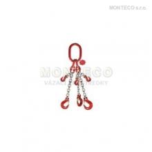 Vázací řetěz trojhák  se zkracovačem pr.10mm,L=1m