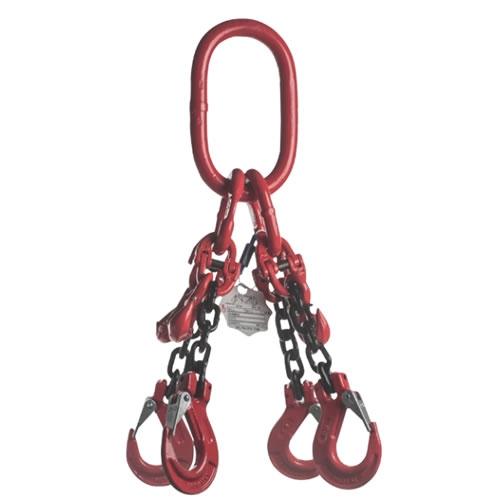 Vázací řetěz čtyřhák  se zkracovačem pr.13mm,L=5m