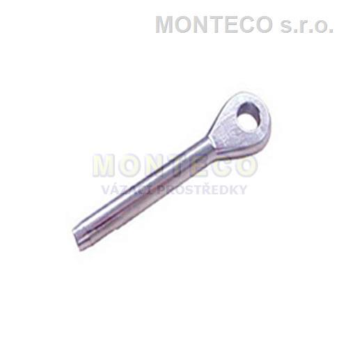Nerezová lanová koncovka lisovací s okem 4 mm, A4