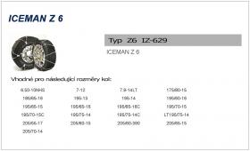 Sněhové řetězy ICEMAN 6 IZ-629