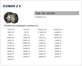 Sněhové řetězy ICEMAN 6 IZ-635