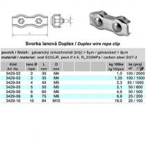 lanová svorka duplex pr.10mm