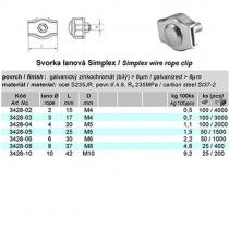 lanová svorka simplex pr.3 mm