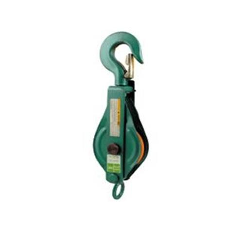 Kladka montážní s hákem 1t lano 10-12/100mm lak.