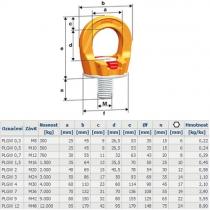 vázací bod PLGW profilift gamma M16/1,5t