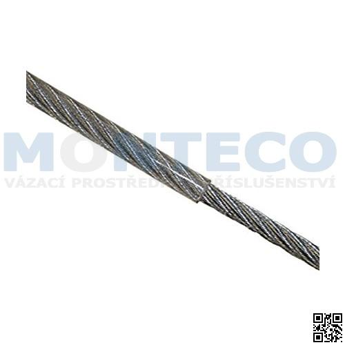 Ocelové lano pr.5x6 mm, 6x7 s nástřikem PVC