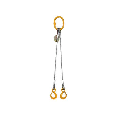 Vázací lano pr.8mm dvojhák l=1m