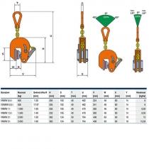 Zvedací svěrka VNMW 0,5t/ 1-20mm