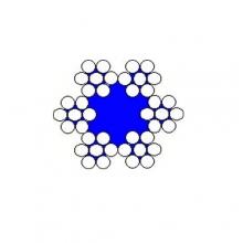 Ocelové lano pr.2 mm 6x7 standard, zinek