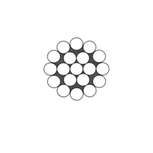 Ocelové lano pr.1 mm 1x19 standard zinek