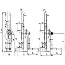 Hřebenový zvedák s přestavitelnou opěrou a ráčnoklikou  5t