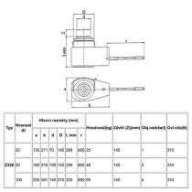 Hydraulický zvedák   Z320 / 25t