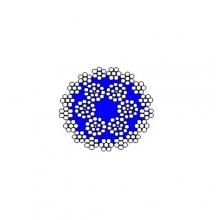 Ocelové lano pr.17 mm 221 drátů,HERKULES, holé