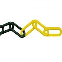 Plastový řetěz pr.6 mm žluto-černý