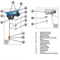 Elektrický minikladkostroj HL 400  200/400kg