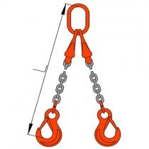 Vázací řetěz dvojhák se zkracovači pr. 13mm, L=5m G10