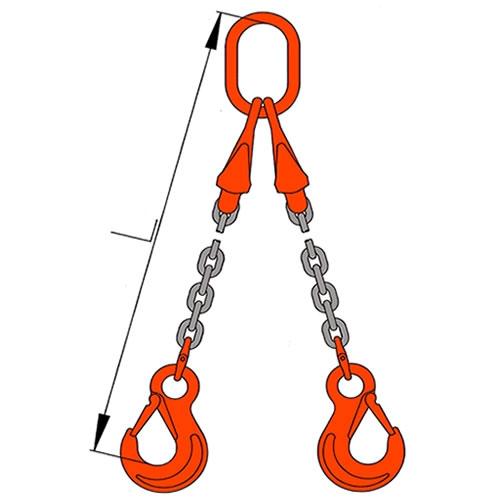 Vázací řetěz dvojhák se zkracovači pr. 13mm, L=6m G10