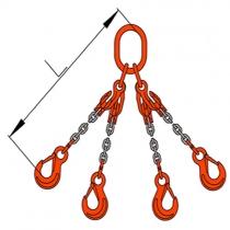 Vázací řetěz čtyřhák se zkracovači pr. 10mm, L=4m G10