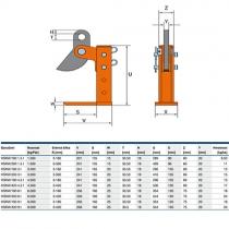 Zvedací svěrka HSKW 300/1,5t/3-300mm