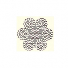 Ocelová lana pr.22 mm 6x36,Seal-Warrington, zinek