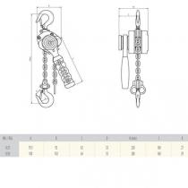 Pákový zvedák hliníkový R-DA 250 kg