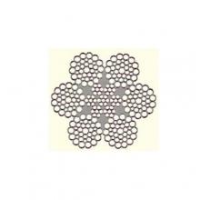 Ocelové lano pr.18 mm 6x19 Seal IWRC, holé