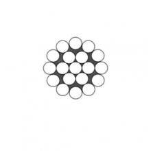 Ocelové lano pr.2 mm 1x19 standard, zinek