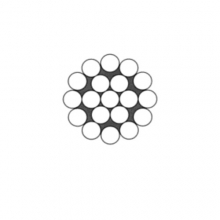 Ocelové lano pr.1,5 mm 1x19 standard, zinek