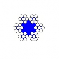 Ocelová lana pr.4x5 mm, 6x7 s nástřikem PVC červené