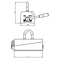 Břemenový permanentní magnet Neo 250 HOT