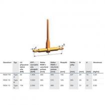 Kotevní řetěz pr.13mm, L=3m
