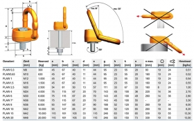 Vázací otočný bod PLAW 0,3 t/M8