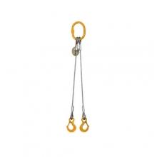 Vázací lano pr.11 mm dvojhák l=1m